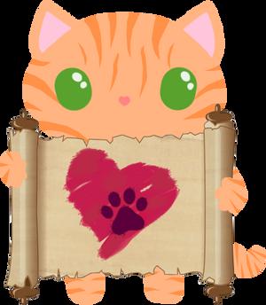 Valentines2018 kitteh - orange tabby
