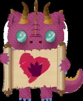 Valentines2018 - dragon pink