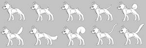 Free Canine Linearts