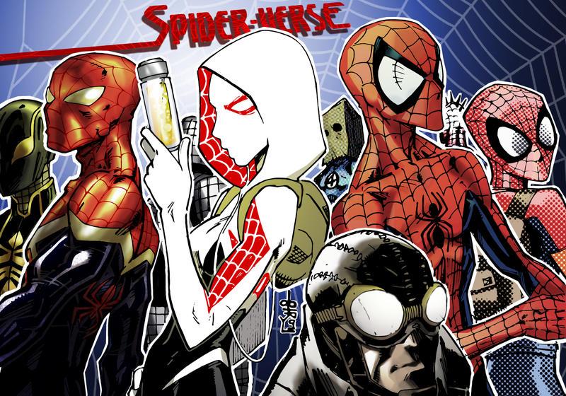 Spider-Verse group 1 by lroyburch