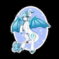 [RQ] Crystal Vision, the dragon-pony by grullasdepapel