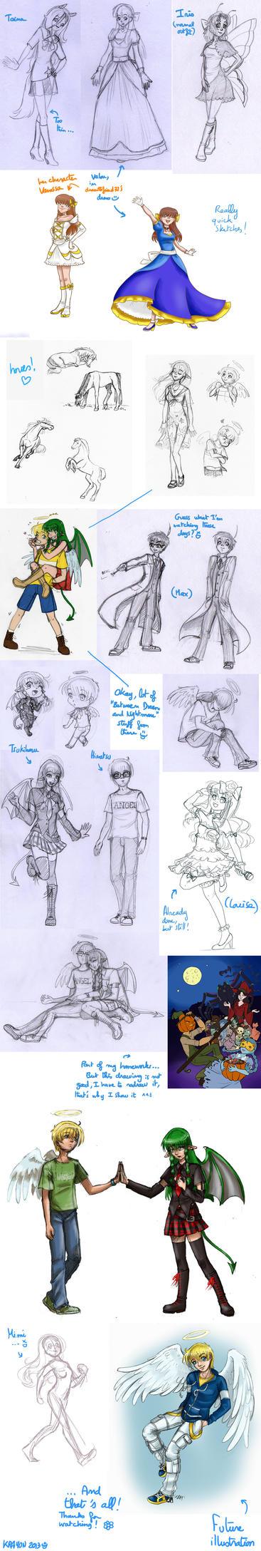 Sketchdump 6 (2013) by Val-Krayon