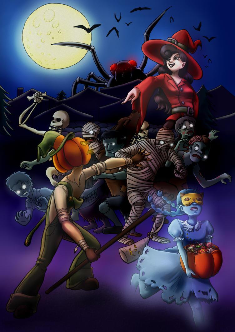 Halloween Panic! by Val-Krayon