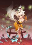 Fox guardian of the shrine