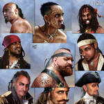 Pirates portraits