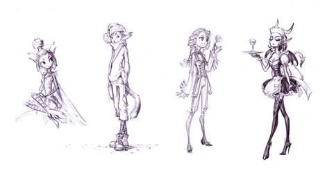 Skinny style sketches by vidagr