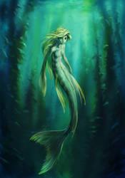 Yellow mermaid by vidagr