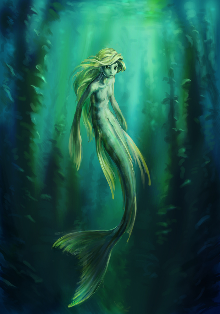 Yellow mermaid by vidagr