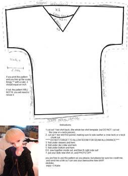 60 cm BJD shirt pattern