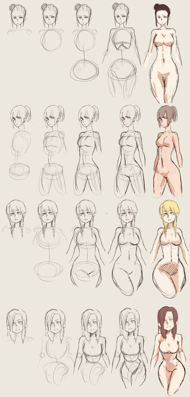 how to draw curvy bodies by hannitee on deviantart