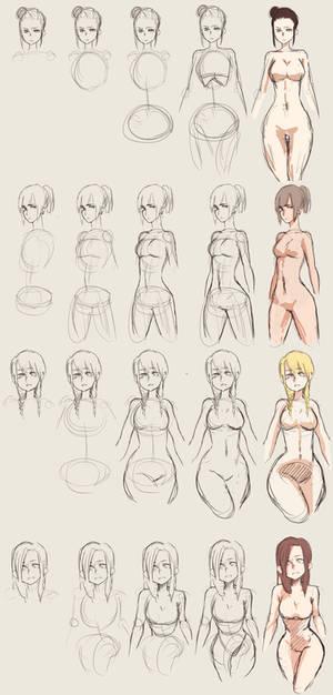 How to Draw Curvy Bodies