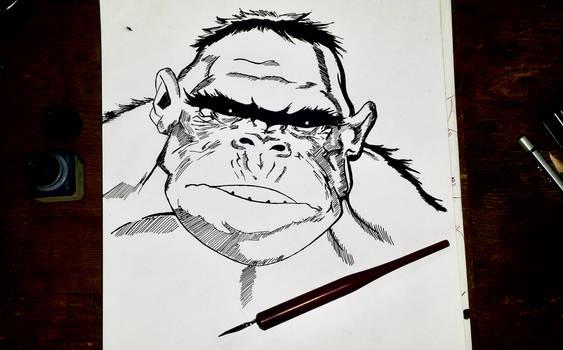 Hulk Simio Tintas - Ape Hulk Inks