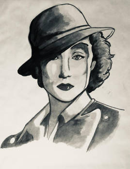 Retrato Mujer Asfalto - Woman Asphalt Portrait