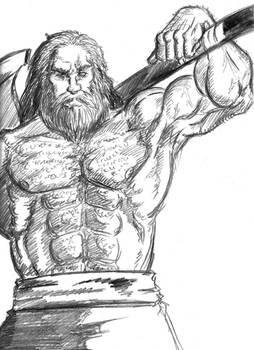 Enano Boceto Lapiz - Dwarf Pencil Sketch