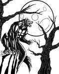 Hombre Lobo (Tintas) - Werewolf (Inks) Halloween by PlsGoot