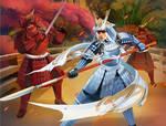 Menacing Iron Warrior