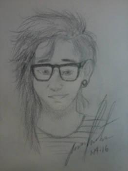 Skrillex drawing :3