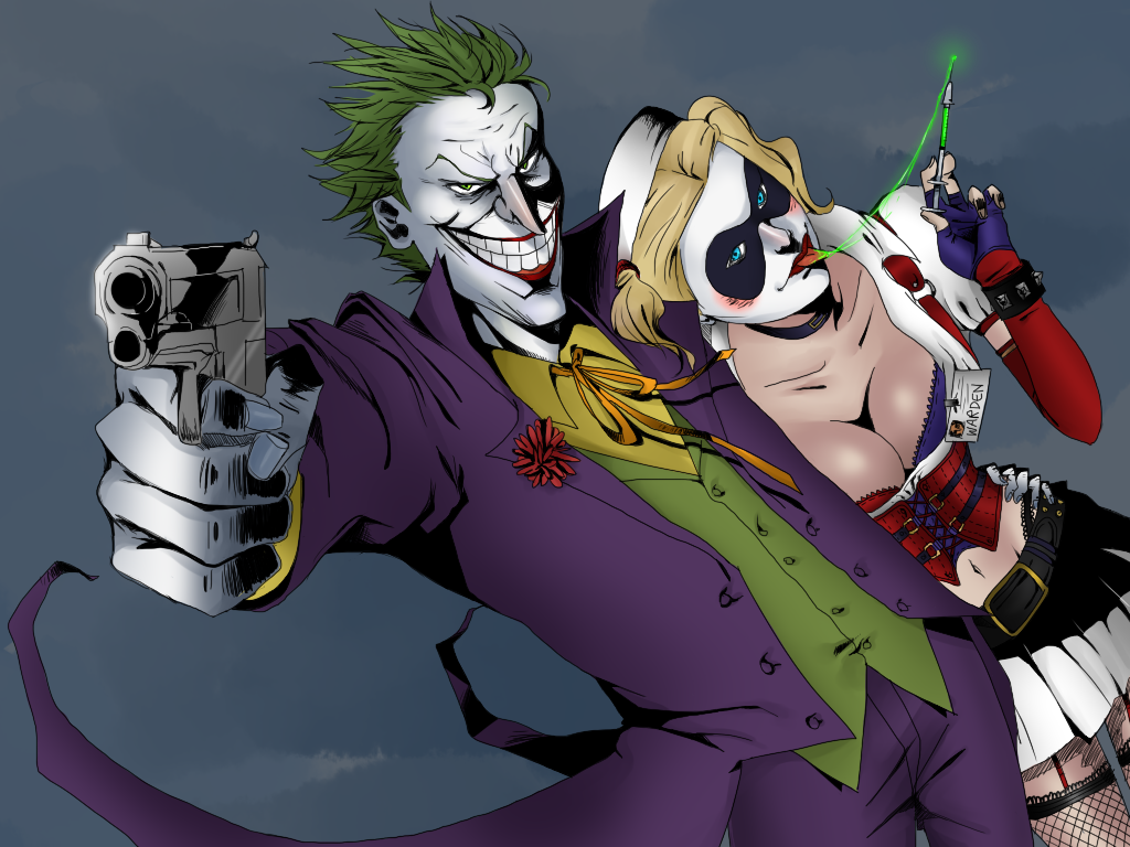 Joker/Harley - Arkham Asylum by rufflerin