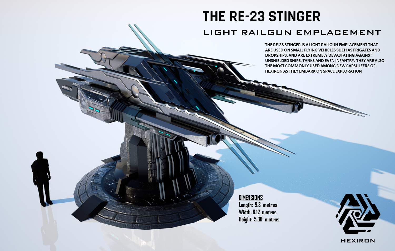 RE-23 Stinger Light Railgun Emplacement (FULL HD) by Duskie-06