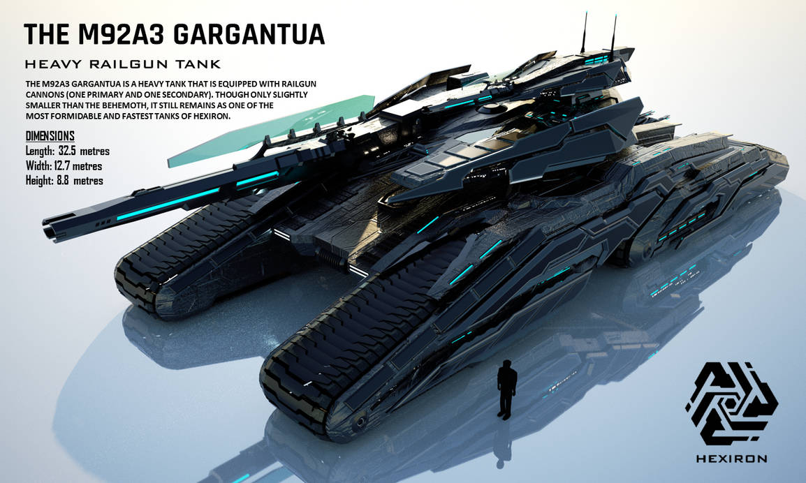 M92A3 Gargantua Heavy Railgun Tank (FULL HD) by Duskie-06