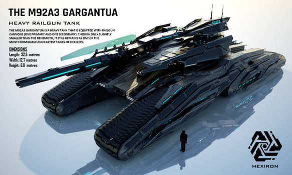 M92A3 Gargantua Heavy Railgun Tank (FULL HD)