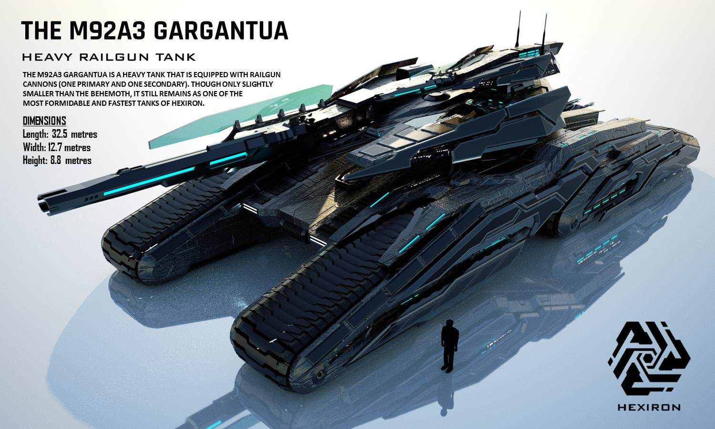 M92A3 Gargantua Heavy Railgun Tank (FULL HD) by Duskie-06