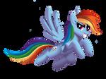 Rainbow Dash (without background)