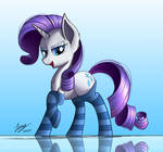 Rarity's Sock Fashion (Commission)