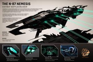 The N-87 Nemesis Combat Battlecruiser