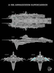 A-186 Armageddon Supercarrier Blueprint (WIP) by Duskie-06