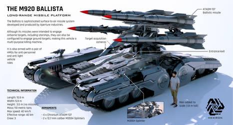 M920 Ballista Long-Range Missile Platform