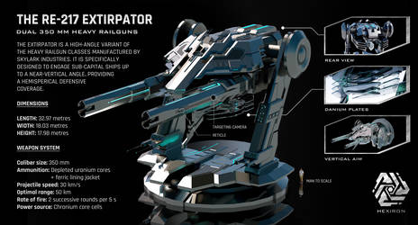RE-217 Extirpator Dual Heavy Railguns
