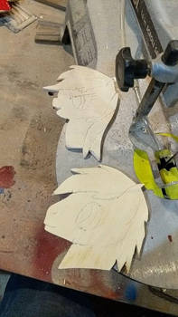 Artsy and Rainbow dash cut outs