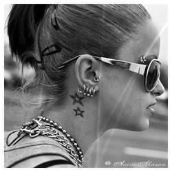 Gangsta Sunglasses Chains Grrl by avivi