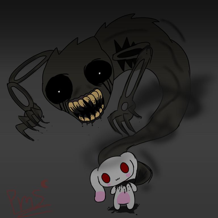 Scary mashmallow by princessmoonstone