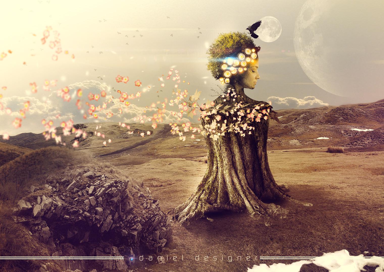 Speed Art - Woman Tree by Danielsnows