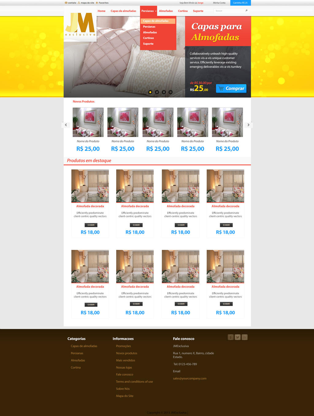 JMExclusiva - E-commerce Layout by Danielsnows