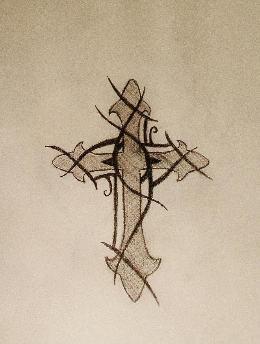 thorny cross by devinsummers on deviantart. Black Bedroom Furniture Sets. Home Design Ideas