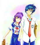CLANNAD - Tomoya and Kyou