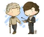 Sherlock and Watson by LeSardine