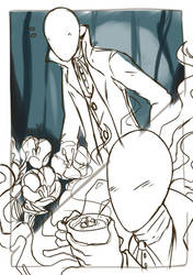 WIP: Slenderman Is a Soft Guy, We All Know It by LeSardine