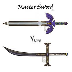 Master Sword and Yoru by LeSardine