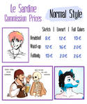 Commissions Info 1: Normal Style by LeSardine