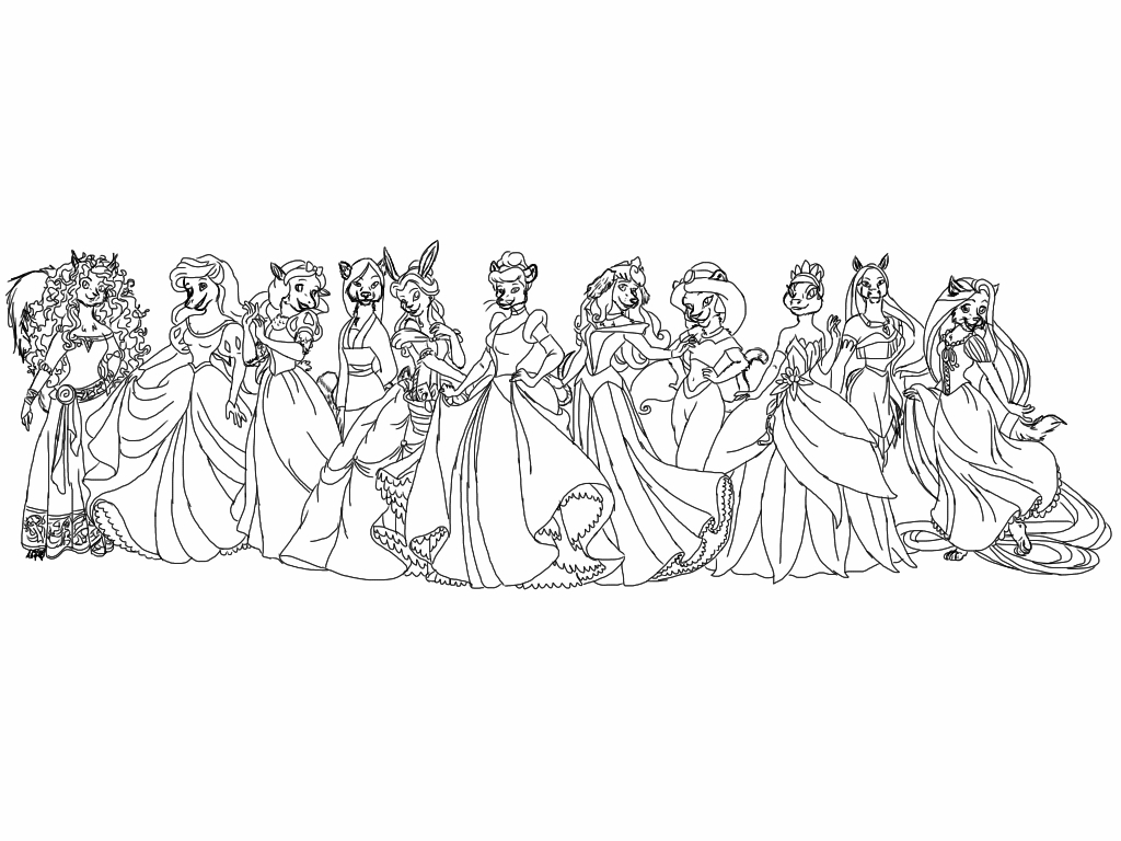 Disney Anthro Princesses Sketch By ToxikHope On DeviantArt