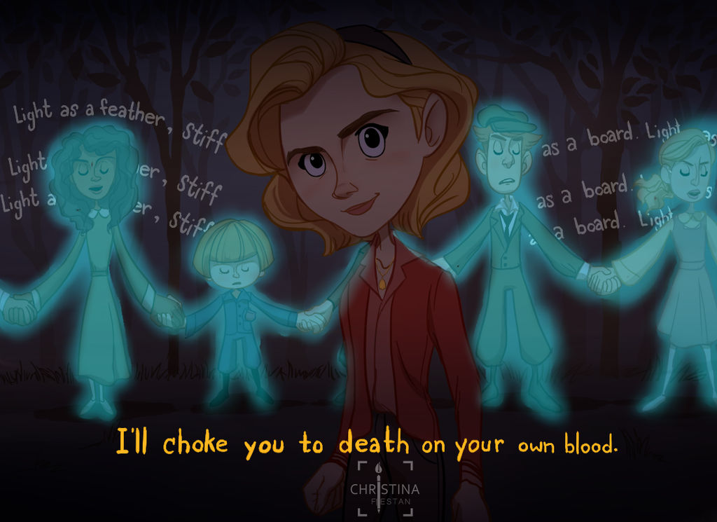 I'll choke you to death on your own blood. by TINAciousArtist