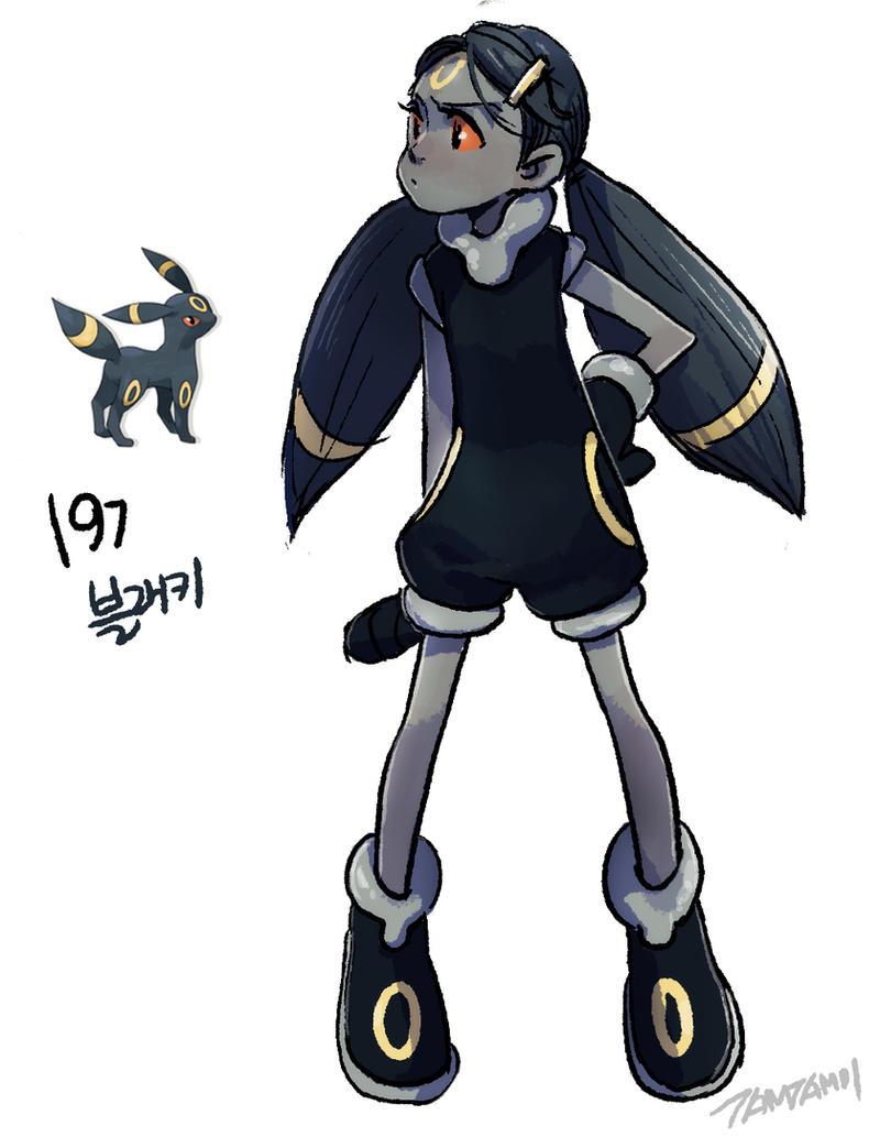 197.Umbreon by tamtamdi on DeviantArt Pokemon Gijinka Umbreon
