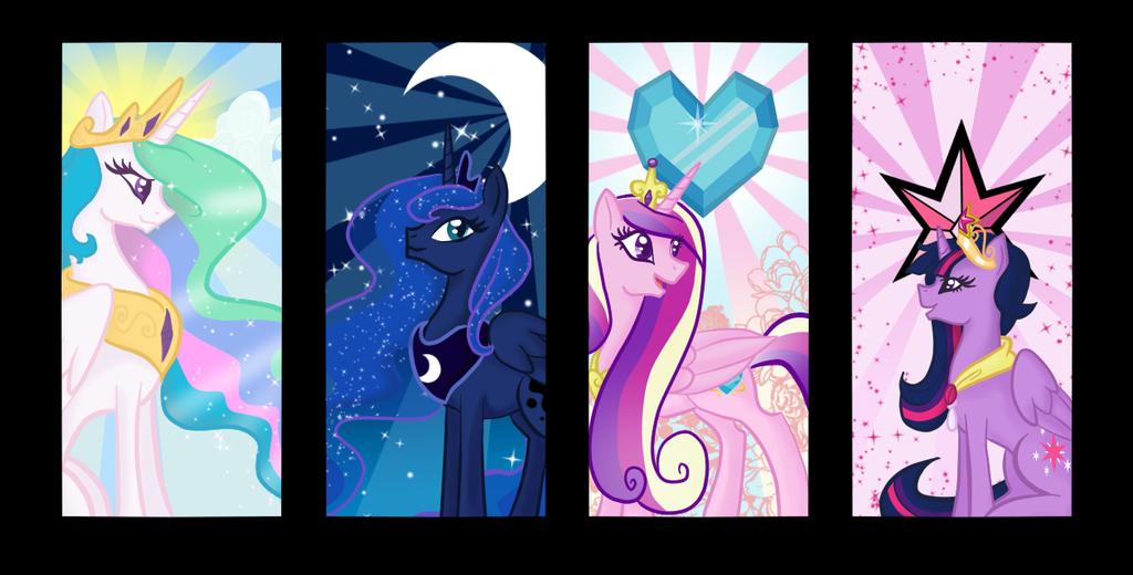 Quartet of Princesses by lilmandarin