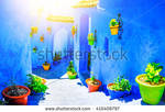 Stock-photo-beautiful-blue-medina-of-chefchaouen-c