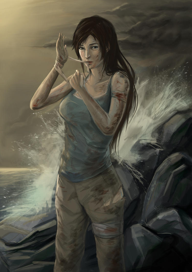 Lara Croft by coldprawn