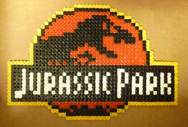 Jurassic Park with hama beads